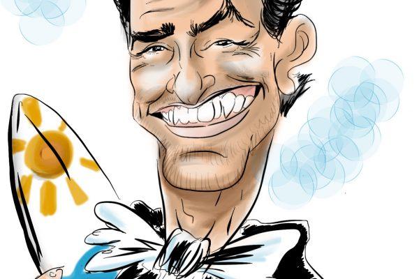 Caricature numérique : caricature sur tablette, en déambulatoire, en cocktail et dîner assis Caen