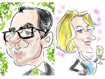 Caricaturiste sur tablette I Pad ou samsung - animtion déambulatoire cocktail evénementiel entreprise