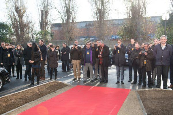 Inauguration siege social entreprise Le Bourget