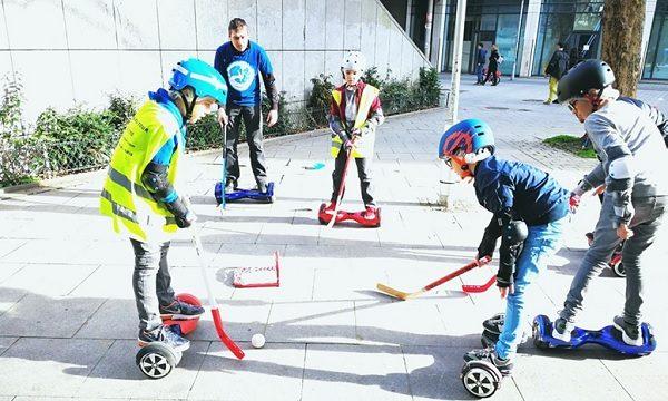 Initiation hoverboard hockey - animation evenementielle innovante enfant et adulte 1