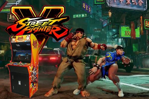 Location jeu arcade vintage street fighter - jeu retro gaming animation evenementiel