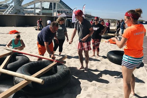 activité team building construction radeau plage normandie - journee de cohesion entreprise trouville benerville